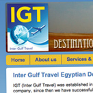 Inter Gulf Travel website