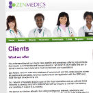 Zen Medics website