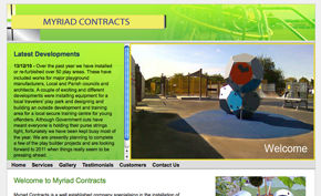Myriad Contracts website