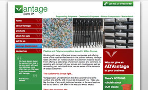 Vantage Sales website